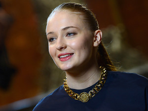 Sophie Turner during the Queen's visit to the Game of Thrones set in Northern Ireland