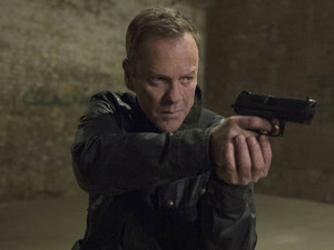 Kiefer Sutherland as Jack Bauer in 24: Live Another Day episode 9: 7:00 PM - 8:00 PM