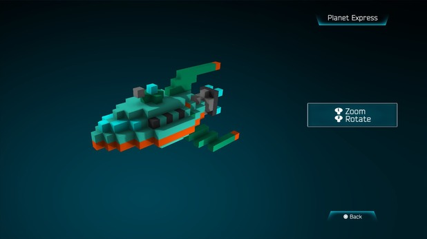 Planet Express created in Resogun's ship editor