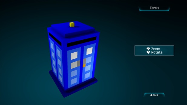 The Tardis created in Resogun's ship editor