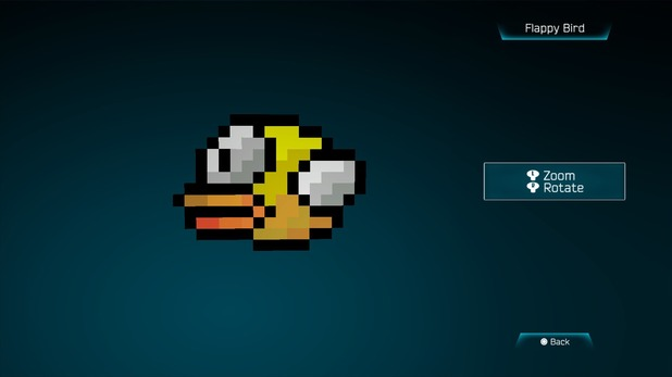 Flappy Bird created in Resogun's ship editor