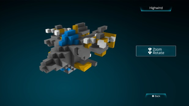 Highwind from Final Fantasy in Resogun