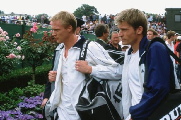 Paul Bettany and Nikolaj Coster-Waldau in Wimbledon (2004)