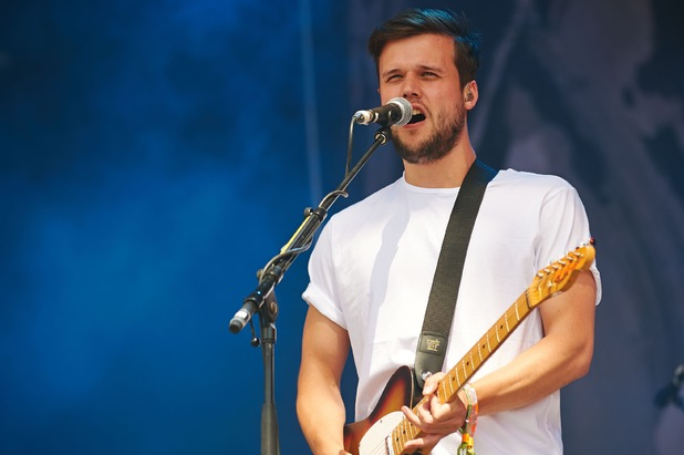 Harry McVeigh of White Lies performs