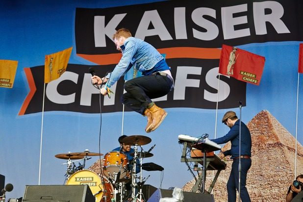 Ricky Wilson of Kaiser Chiefs performs on Day 1 of the Glastonbury Festival 2014