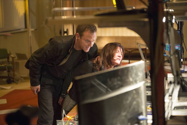 Kiefer Sutherland as Jack Bauer & Michelle Fairley as Margot in 24: Live Another Day episode 9: 7:00 PM - 8:00 PM