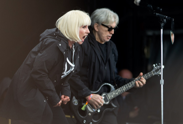 Debbie Harry and Chris Stein of Blondie perform at Glastonbury Festival 2014