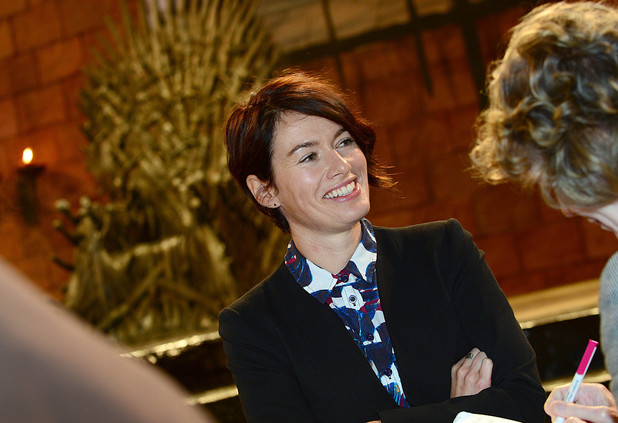 Lena Headey during the Queen's visit to the Game of Thrones set in Northern Ireland