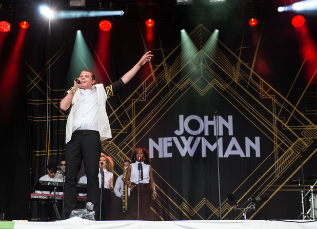 John Newman performs on The Other stage during Glastonbury 2014