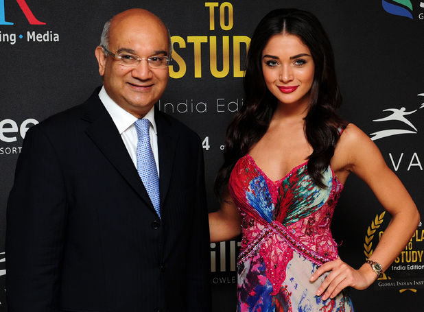 Keith Vaz and Amy Jackson attending the Great Place to Study-India gala dinner and awards presentation Madame Tussauds, London.