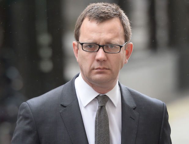 Andy Coulson arrives at the Old Bailey