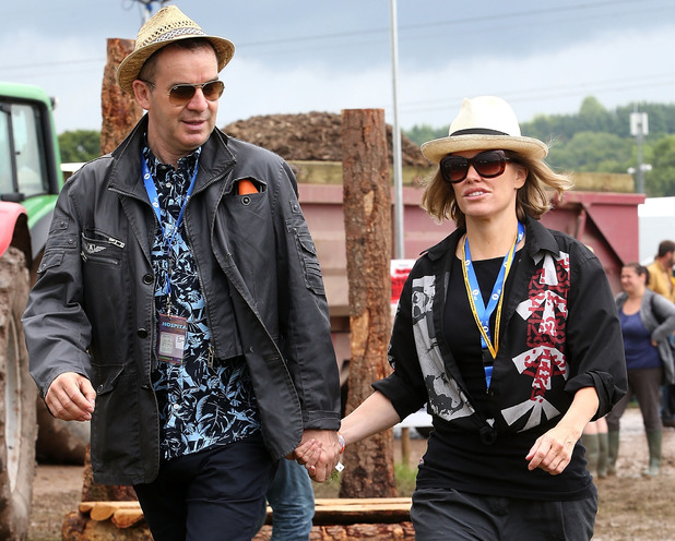 Cerys Matthews arrives for day 2 of the Glastonbury Festival at Worthy Farm