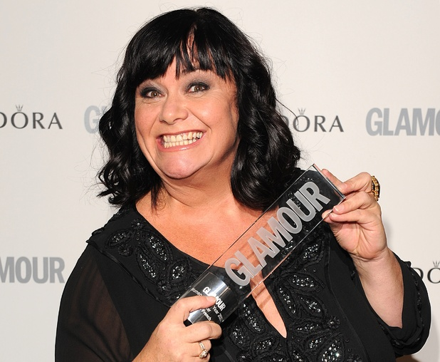 Dawn French with her Writer of the Year award