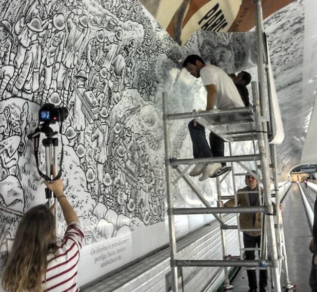 Joe Sacco's The Great War Paris mural