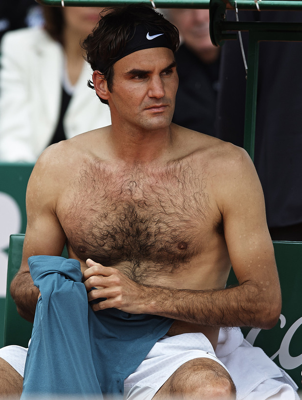 MONTE-CARLO, MONTE CARLO - APRIL 20: Roger Federer of Switzerland looks on against Stanislas Wawrinka of Switzerland in the final during day eight of the ATP Monte Carlo Rolex Masters Tennis at Monte-Carlo Sporting Club on April 20, 2014 in Monte-Carlo, Monaco. (Photo by fotopress/WireImage)
