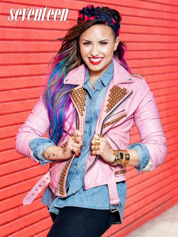 Demi Lovato in Seventeen's August issue