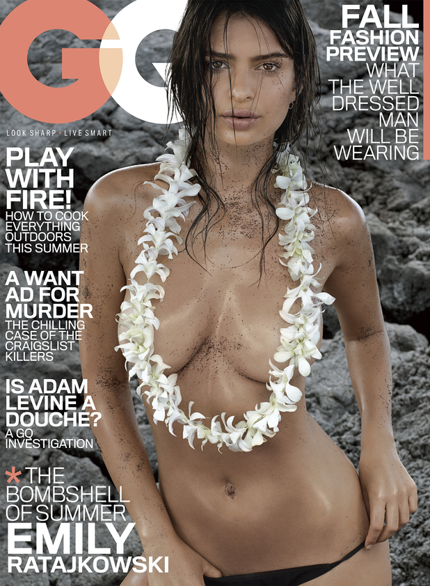 Emily Ratajkowski on the cover of GQ
