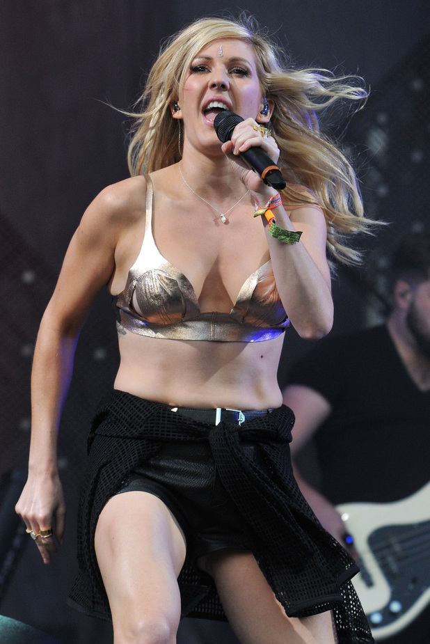 Ellie Goulding performs on the Other stage