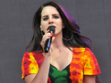 Lana Del Rey performs on the Pyramid Stage