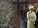 Her Majesty comes face to face with the most famous seat in the Seven Kingdoms.