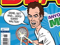 The tennis champion makes his mark on the long-running anthology comic.