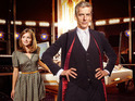 Jenna Coleman as Clara and Peter Capaldi as The Doctor