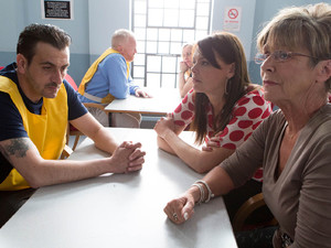 Deirdre and Tracy visit Peter in prison and ask why he sacked his solicitor,