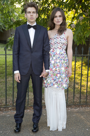 LONDON, UNITED KINGDOM - JULY 01: James Righton and Keira Knightley attends the annual Serpentine Galley Summer Party at The Serpentine Gallery on July 1, 2014 in London, England. (Photo by Julian Parker/UK Press via Getty Images)