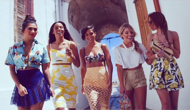 The Saturdays 'What Are You Waiting For?' music video still.