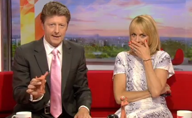 Morph loses his head on BBC Breakfast