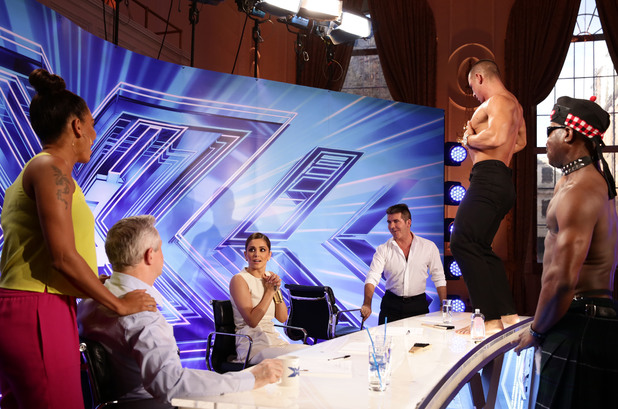 Cheryl Cole gets birthday strippers at X Factor