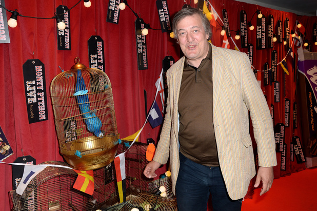 Stephen Fry at the opening night of Monty Python Live (Mostly)