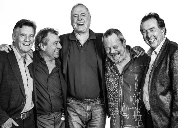Monty Python: Michael Palin, Eric Idle, Terry Jones, Terry Gilliam and John Cleese