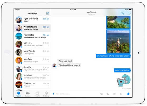 Facebook Messenger for iPad