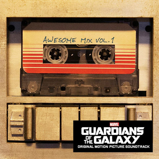 Guardians of the Galaxy soundtrack artwork