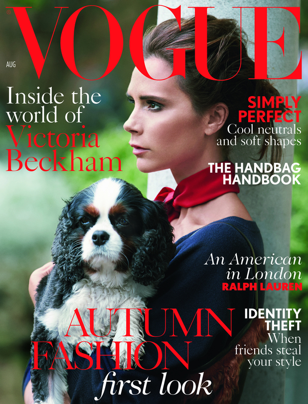 Victoria Beckham fronts Vogue