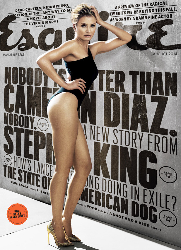 Cameron Diaz on the cover of Esquire's August issue