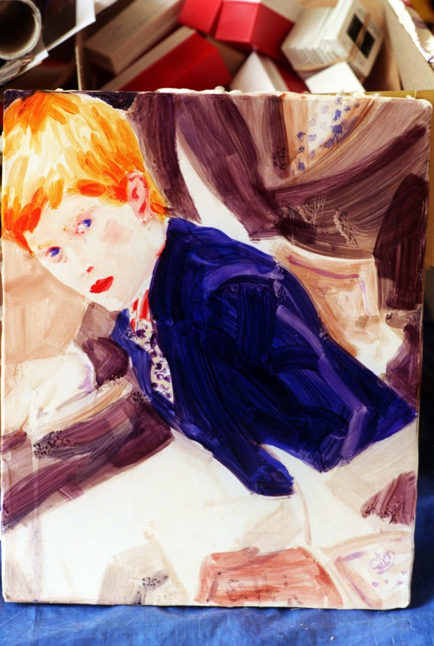 Prince Harry Portrait Of Prince Harry. American Artist Elizabeth Peyton. 18 Feb 1998