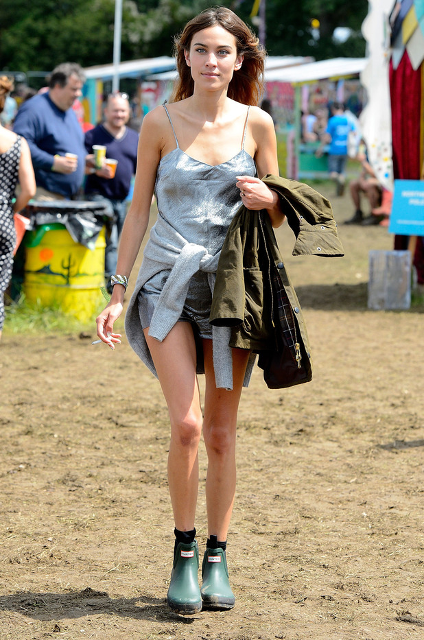 Alexa Chung attends the Glastonbury Festival 2014