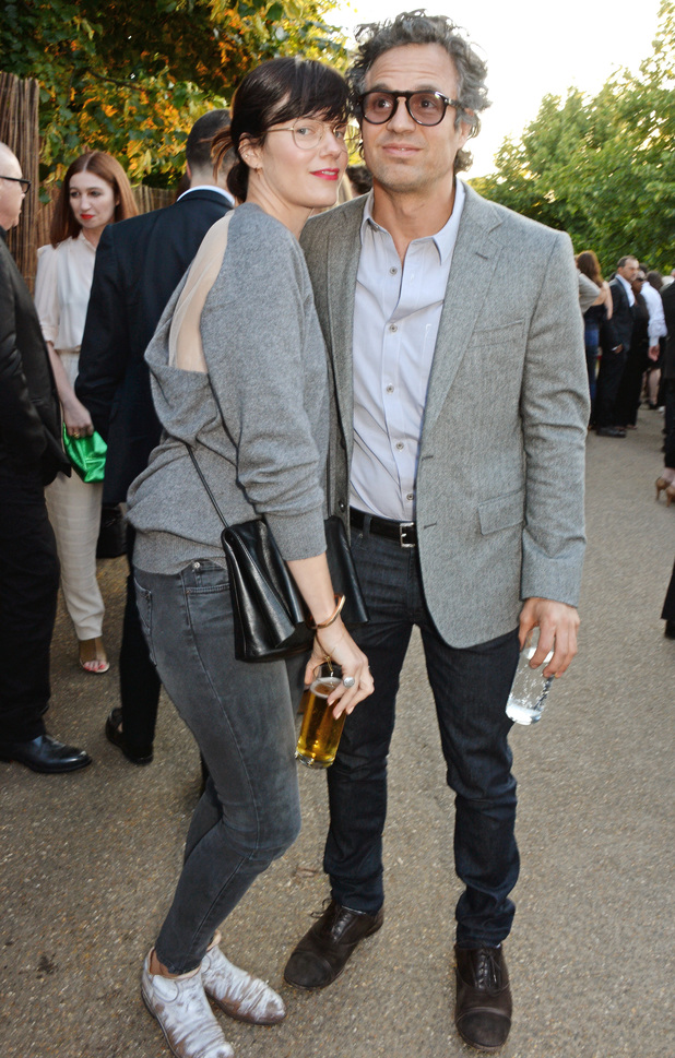 LONDON, ENGLAND - JULY 01: Sunrise Coigney (L) and Mark Ruffalo attend The Serpentine Gallery Summer Party co-hosted by Brioni at The Serpentine Gallery on July 1, 2014 in London, England. (Photo by David M. Benett/Getty Images for The Serpentine)