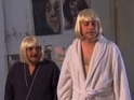 Jimmy Kimmel attempts to copy the choreography from Sia's 'Chandelier' video.