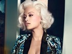 The singer channels Monroe as part of her Roberto Cavalli fashion campaign.