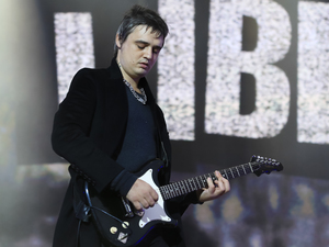 Pete Doherty of The Libertines performs on stage at British Summer Time Festival at Hyde Park on July 5