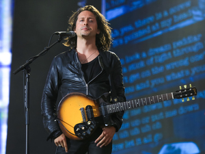 Carl Barat of The Libertines performs on stage at British Summer Time Festival at Hyde Park on July 5