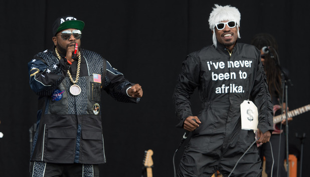 Outkast perform on stage at the Wireless Festival London