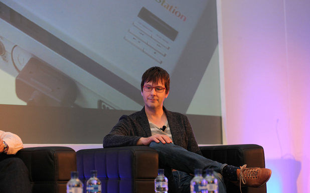 Mark Cerny speaking at the Develop conference in Brighton