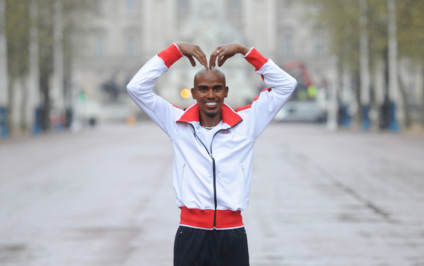 LONDON, ENGLAND - APRIL 06: A waxwork of Mo Farah is unveiled ahead of The London Marathon on Sunday 13th April at The Mall on April 6, 2014 in London, England. (Photo by Stuart C. Wilson/Getty Images) WAXWORK