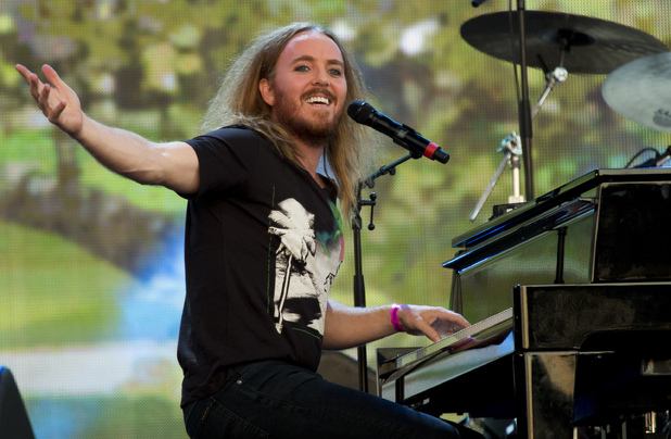 Tim Minchin performs on stage at British Summer Time Festival 2014