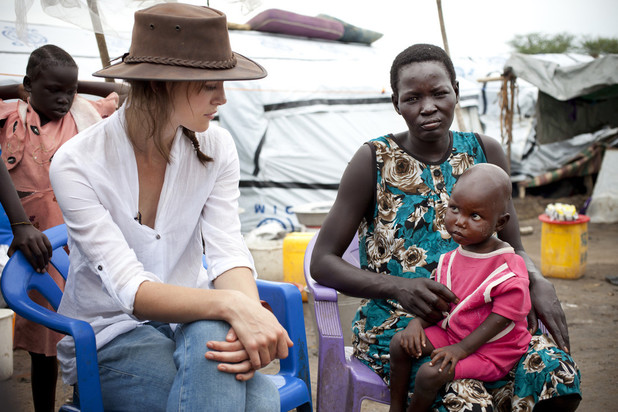 Kiera Knightley visits Bor Camp in South Sudan with Oxfam GB