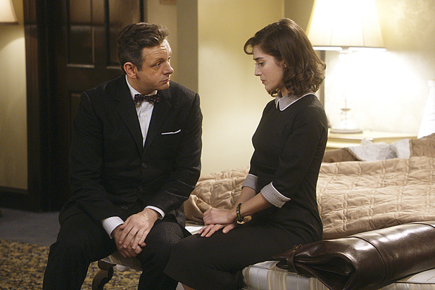Michael Sheen as Dr. William Masters and Lizzy Caplan as Virginia Johnson in Masters of Sex: Season 2, episode 3